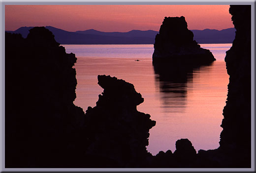 Tufa Frames Tufa - First Light - Mono Lake, CA